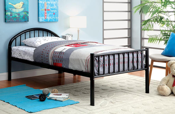 Alloway Contemporary Twin Bed in Black