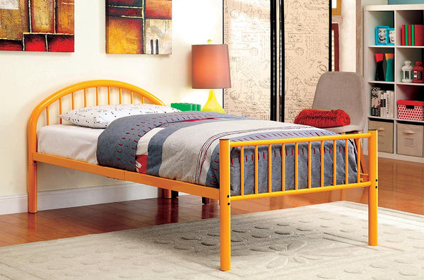 Alloway Contemporary Twin Bed in Orange
