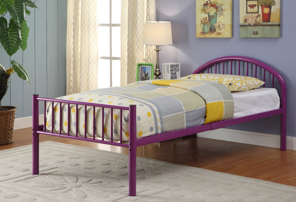 Alloway Contemporary Twin Bed in Purple