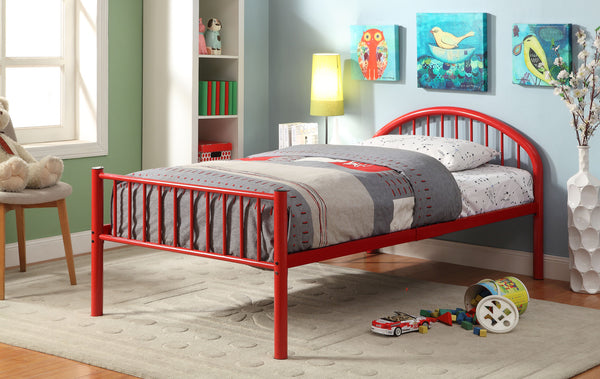 Alloway Contemporary Twin Bed in Red