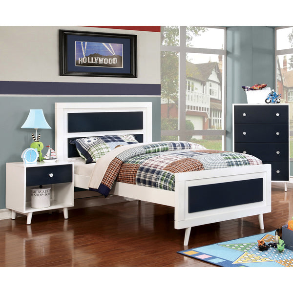 Sharline Contemporary Full Bed in Blue