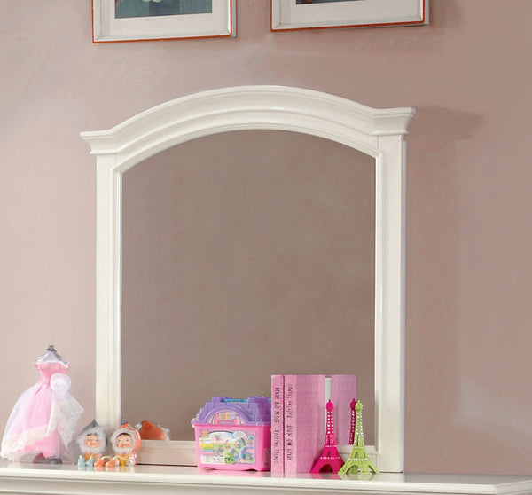 Patrice Transitional Mirror in White