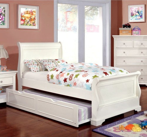 Patrice Transitional Full Bed in White