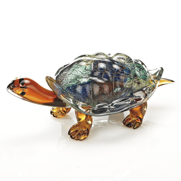 "Badash J570 Art Glass Turtle  L12"" X W6"" X H5"""