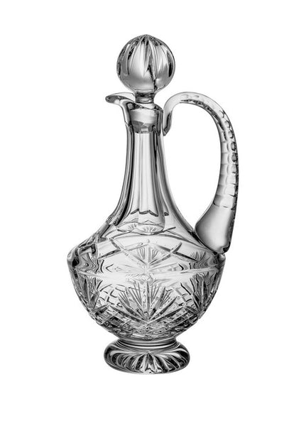 Majestic Gifts MA-220 Hand Cut Crystal 38 oz. Wine Decanter with Handle