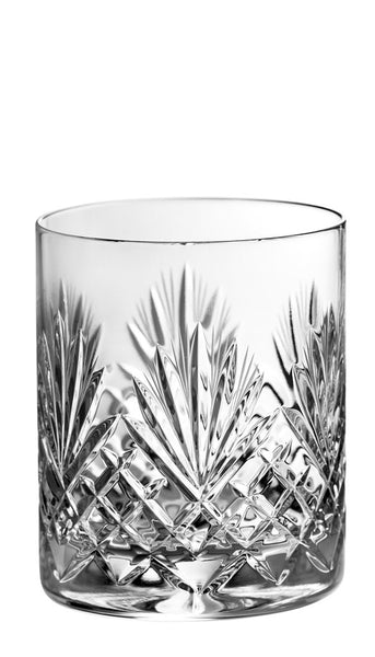 Majestic Gifts MA-504 Hand Cut Crystal Double Old Fashioned Tumbler 14 oz. Set of 4