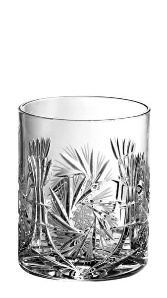 Majestic Gifts PW-504 Hand Cut Crystal Double Old Fashioned Tumbler 14 oz. Set of 4