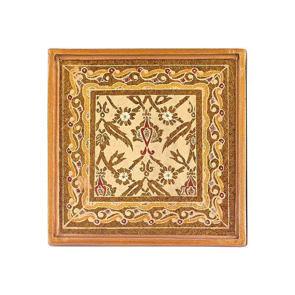 "Badash RC4-AS Antigua Sand  4 Pc Coaster Set   4"" Sq"
