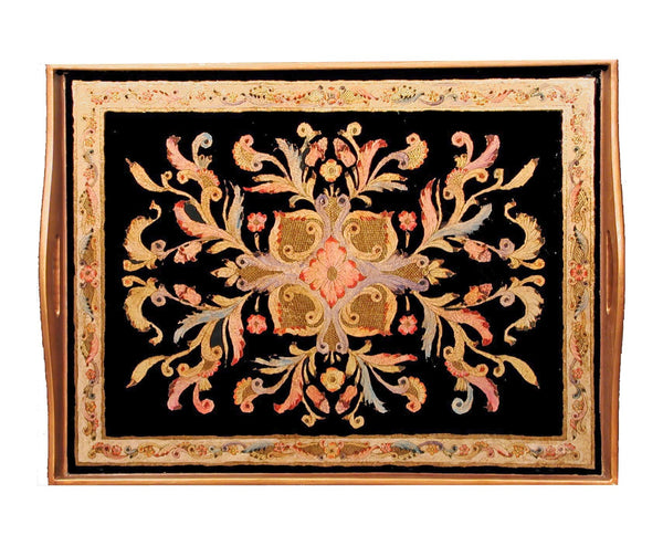 "Badash RTR18-GK Gemstone Black Rectangle Tray  18"" X12"""