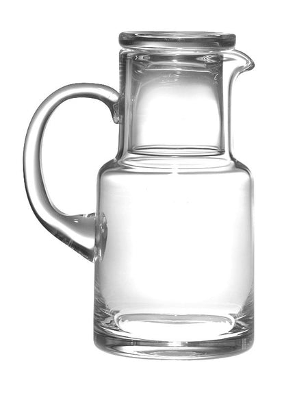Majestic Gifts T-104 Quality Glass 28 oz. Pitcher with Drinking Glass