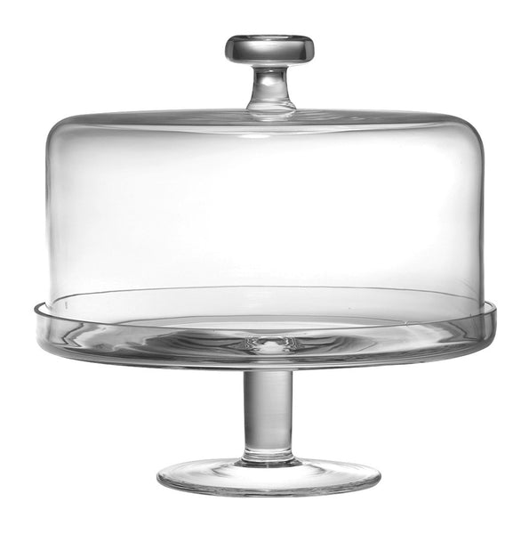 "Majestic Gifts T-305 Quality Glass Cake stand with dome 11""D, Dome 6""H inside"