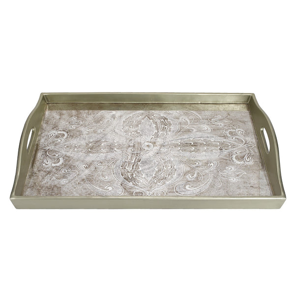 "Badash RTR18-MS Manta Silver Rectangle Tray  18"" X12"""
