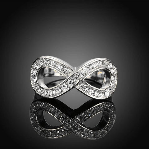Classic Crystal Pave Infinity Ring