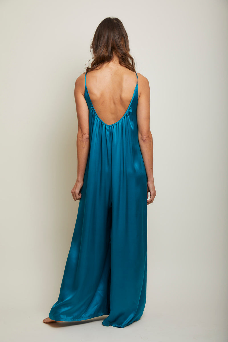 Silk Charmeuse Jumpsuit