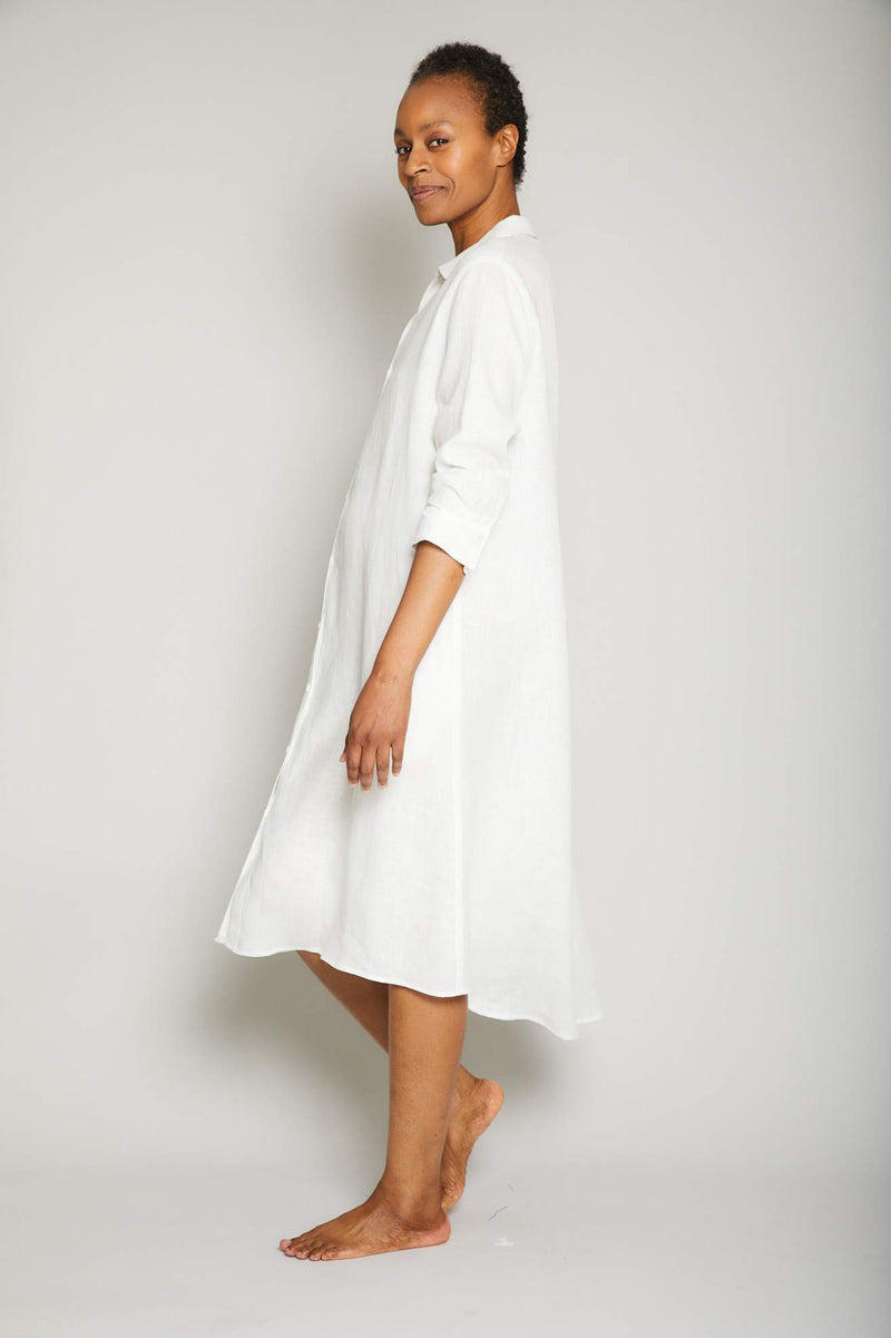 Linen Button Front Dress