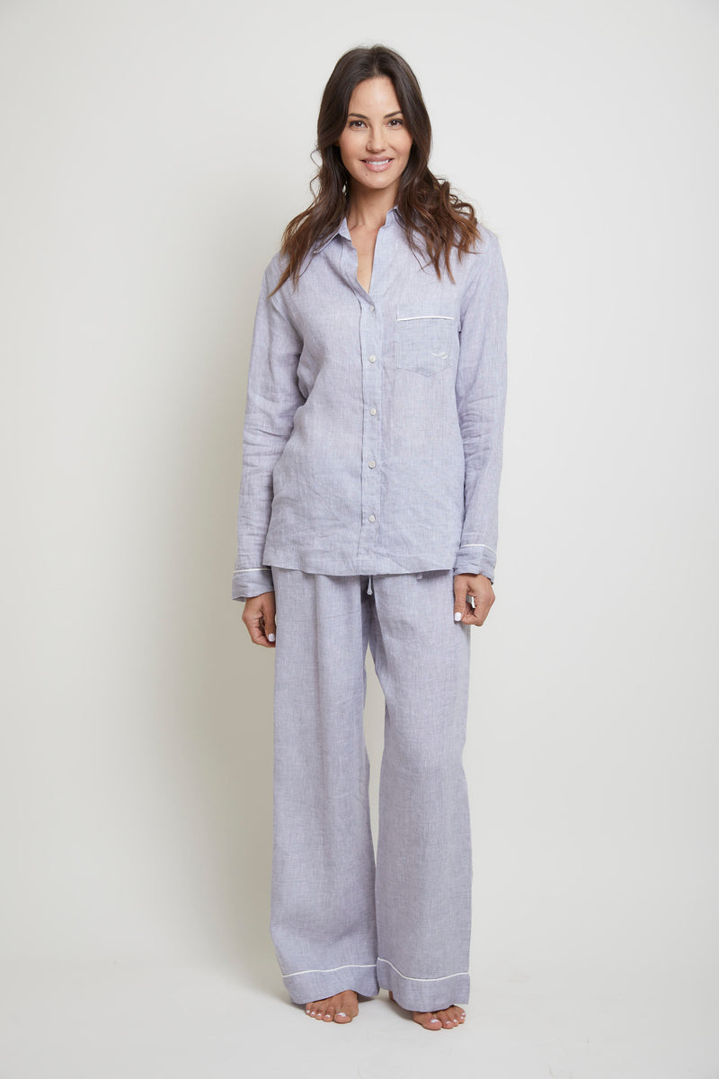 Linen Congo Pajama Set- Heather Grey