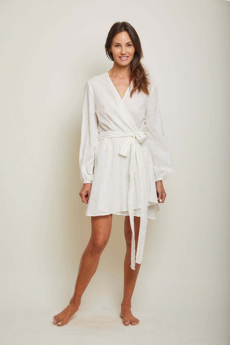Organic Japanese Cotton Short Wrap Dress