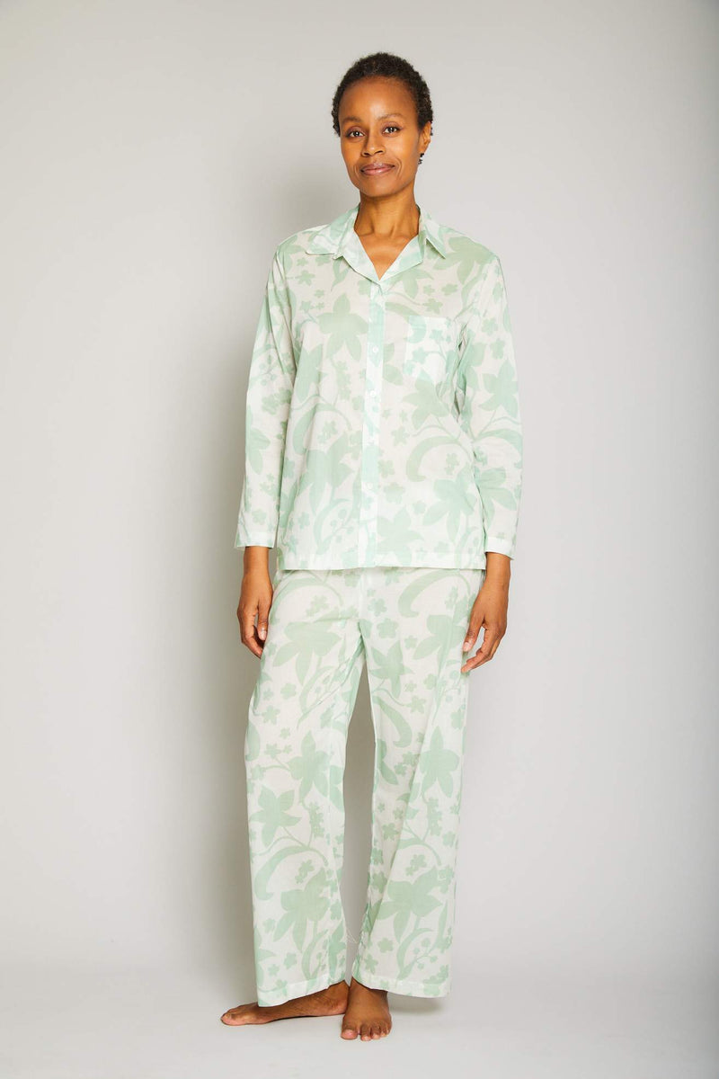 Hawaiian Print Pajama Set