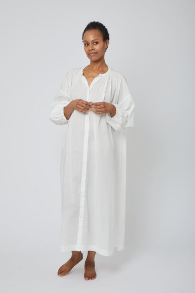 Long Button Front Nightgown