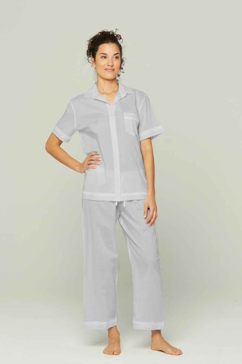 Short Sleeve Crop Pant PJ Set