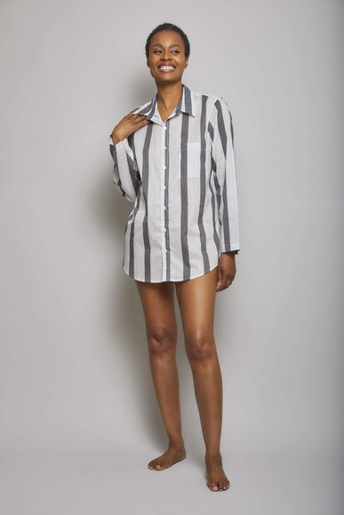 Striped Boyfriend Sleep Shirt