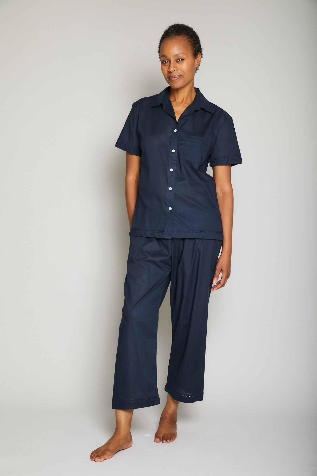 Short Sleeve /Cropped Pant PJ Set