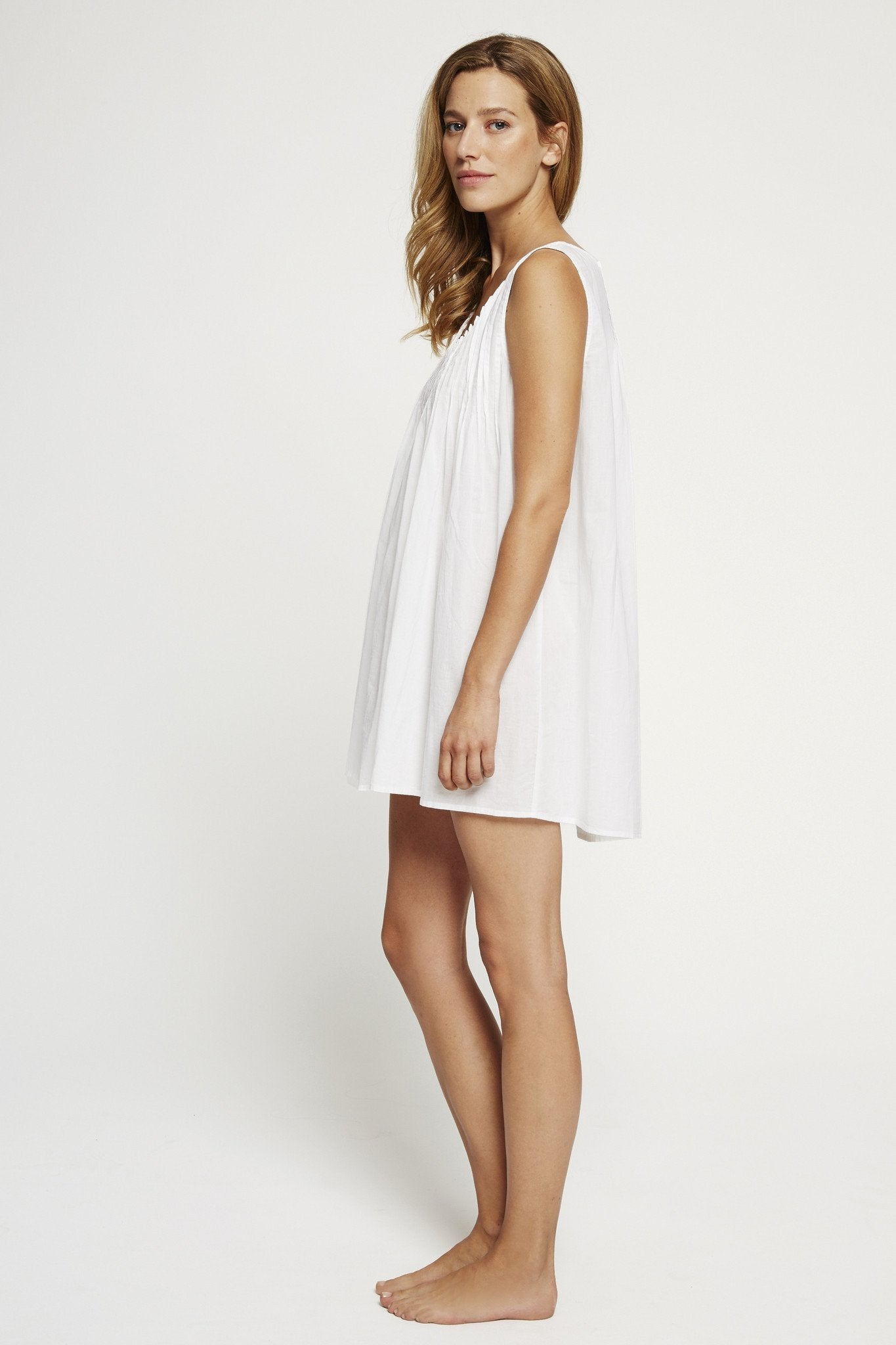 Pintuck Sleeveless Nightie