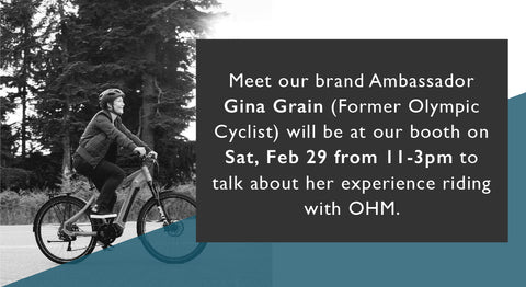 Picture with message of Gina Grain Brand Ambassador joining us at the event