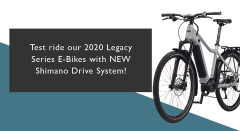 test ride our new Legacy Series E-Bikes