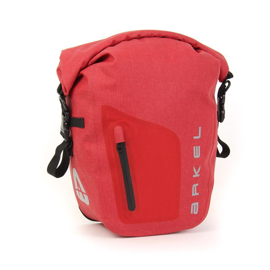 Arkel Orca 45 Front or Rear Waterproof Bike Panniers (Pair) Parts & Accessories Arkel Red