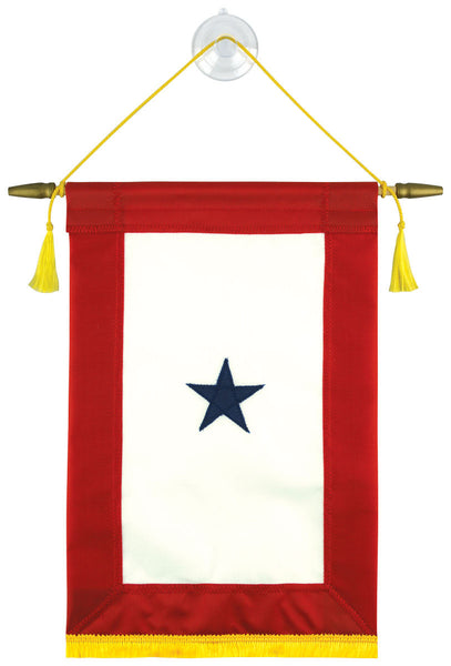 Fully Sewn Blue Star Service Banner - 1 Star