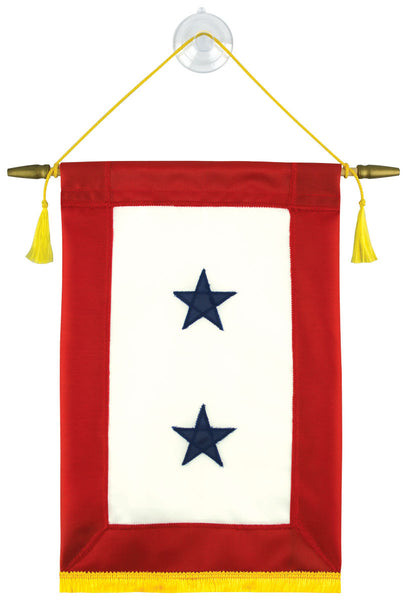 Copy of Fully Sewn Blue Star Service Banner - 2 Star