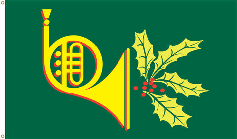 Holiday Horn Flag