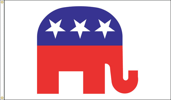 Republican Elephant Flag