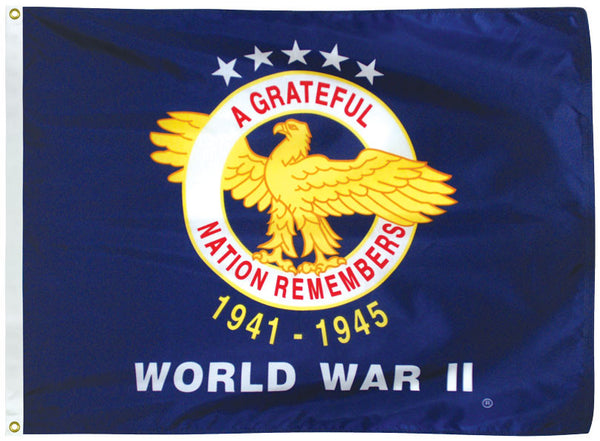 Outdoor Veterans Commemorative Flags - World War II
