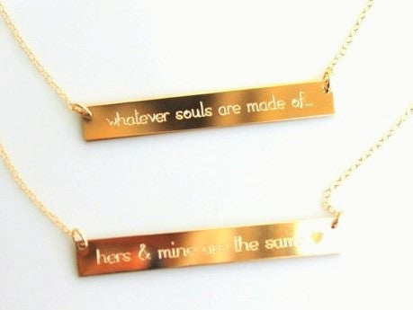mom necklace custom engraved gold bar necklace lilladesigns