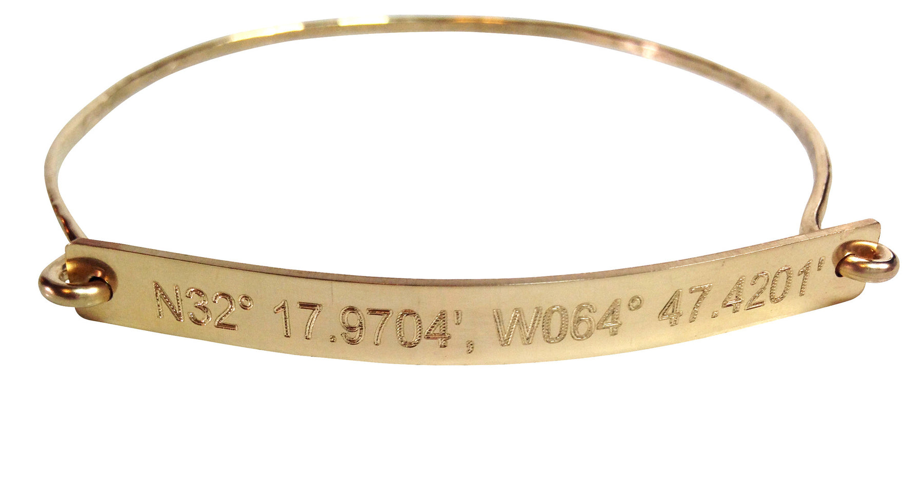 her for jewelry gps coordinate gold bangle bracelet christmas gift coordinates friend