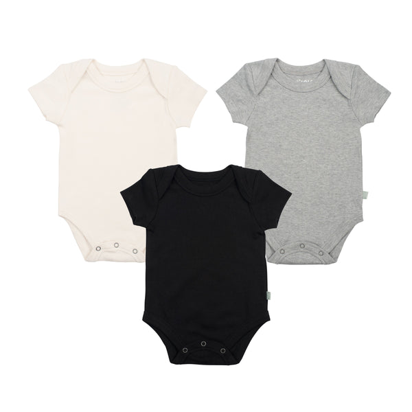 3 pack set of organic cotton baby bodysuits