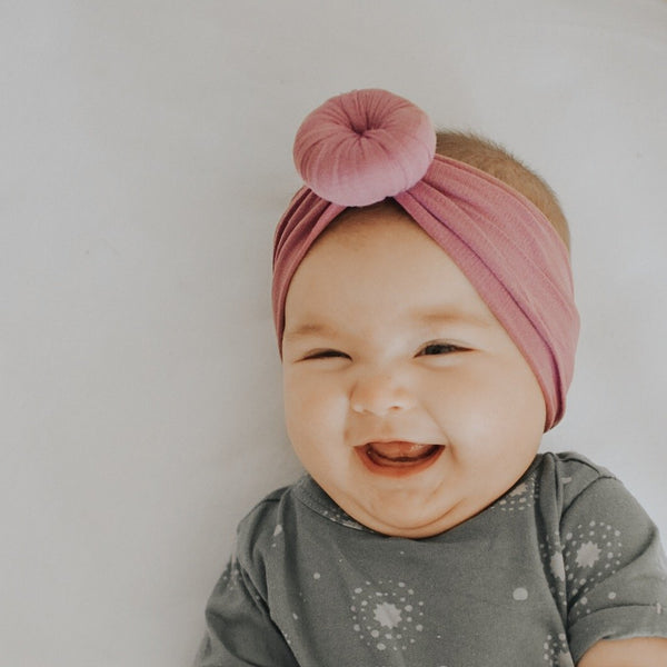 Baby Turban & Classic Bow Headbands - Nylon
