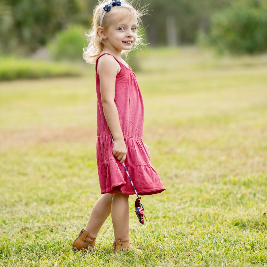 Organic Toddler Red Summer Dress