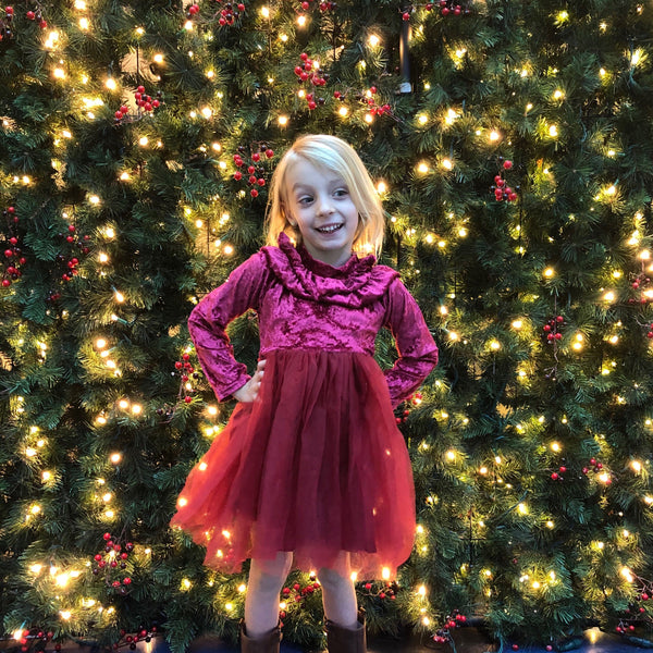Red tutu holiday toddler dress BE LOVE kids