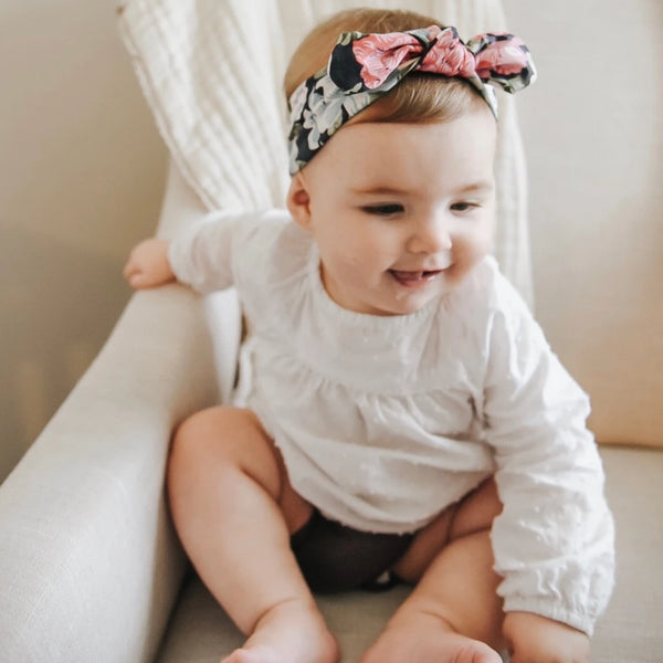 Baby Knot Headbands - Brushed Milk Silk