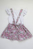 Toddler floral suspender skirt back BE LOVE kids
