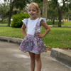 Toddler floral suspender skirt BE LOVE kids