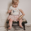 organic cotton baby bodysuit I Love Dad