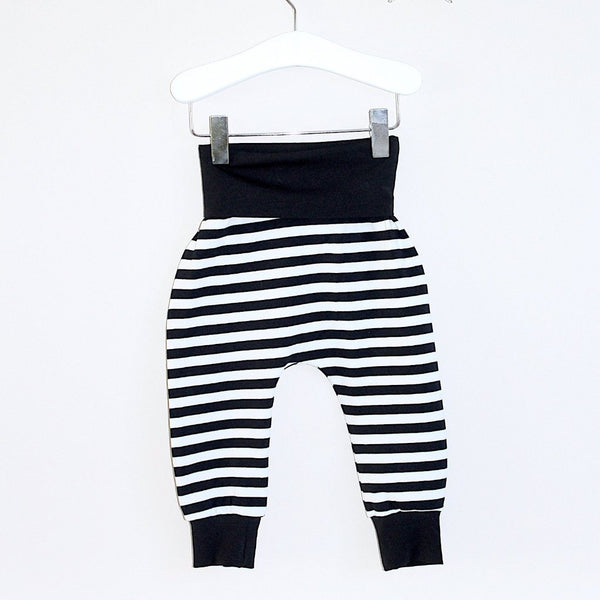 black & white baby harem pants BE LOVE kids