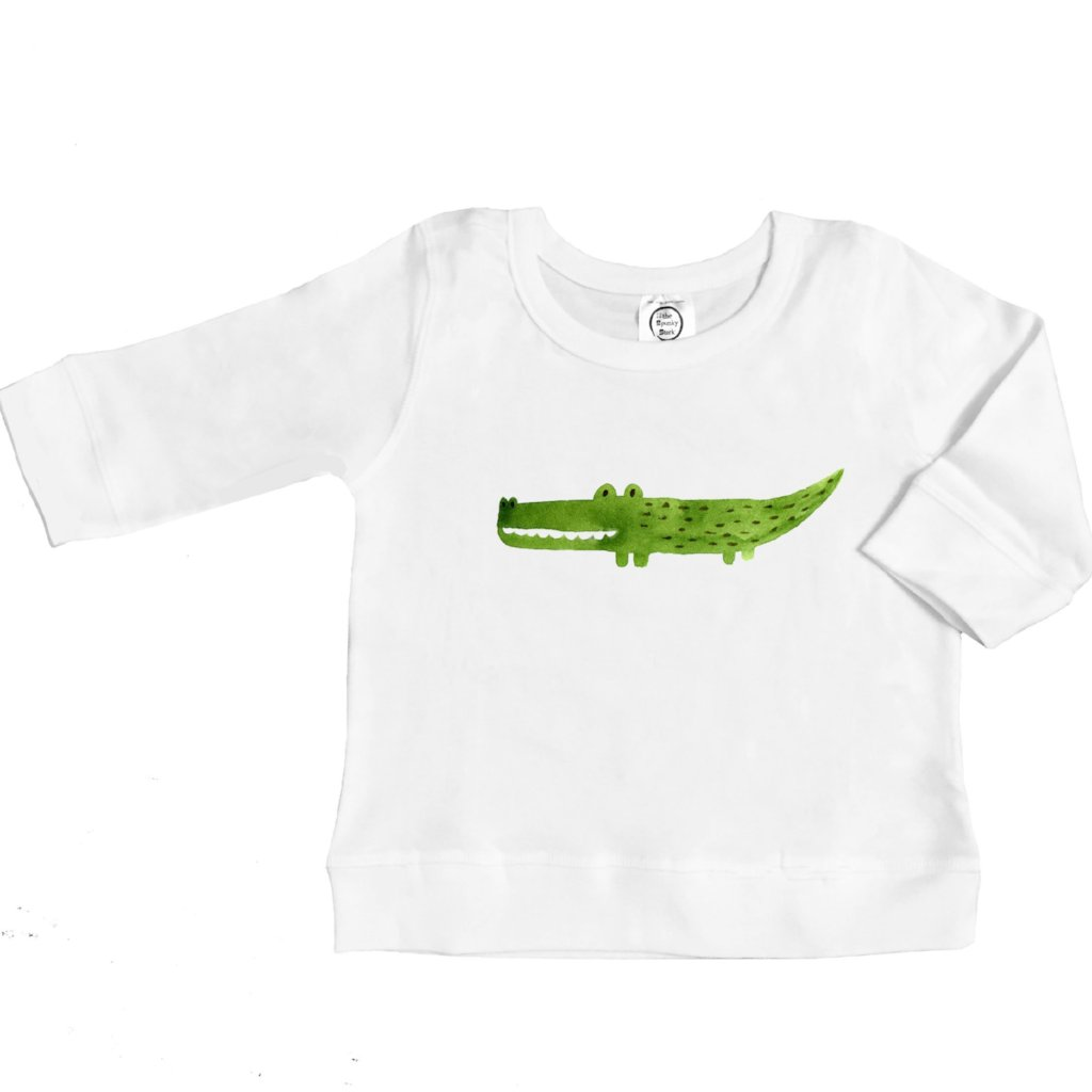 organic cotton long sleeve shirt with alligator BE LOVE kids