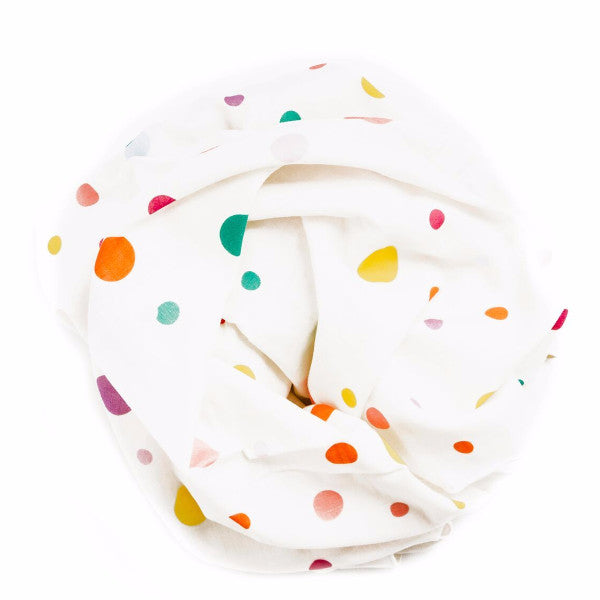 organic cotton swaddle blanket polka dots BE LOVE kids