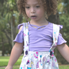 Purple Off The Shoulder Top with Suspender Skirt BE LOVE kids