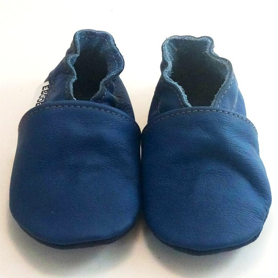 BE LOVE kids blue leather baby shoes